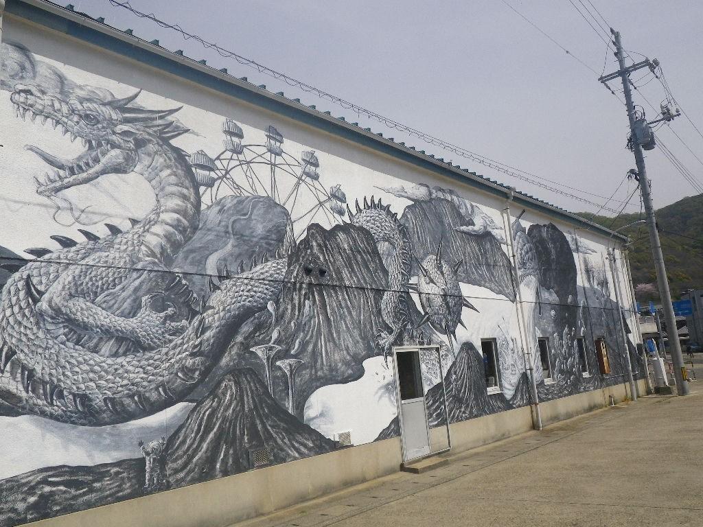 ヤノベケンジさんの壁画