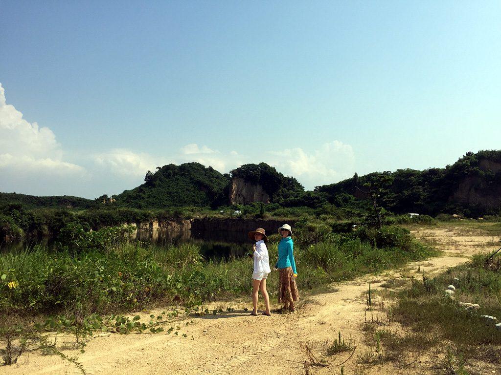 小与島の採石跡