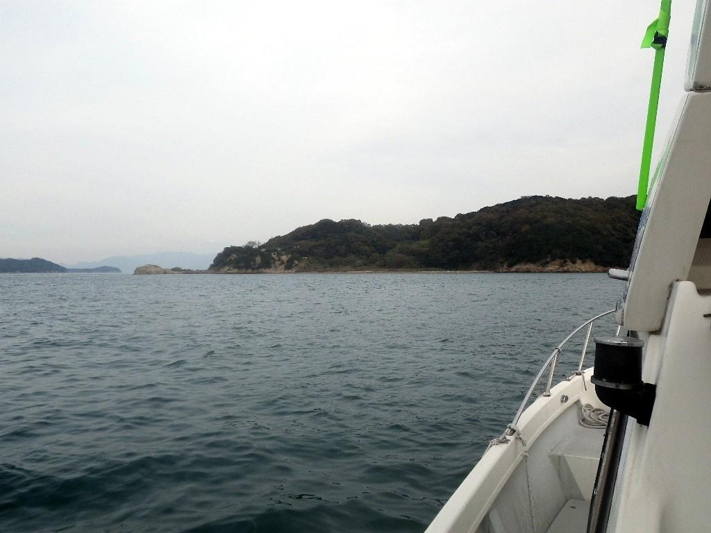屋島沖で散骨
