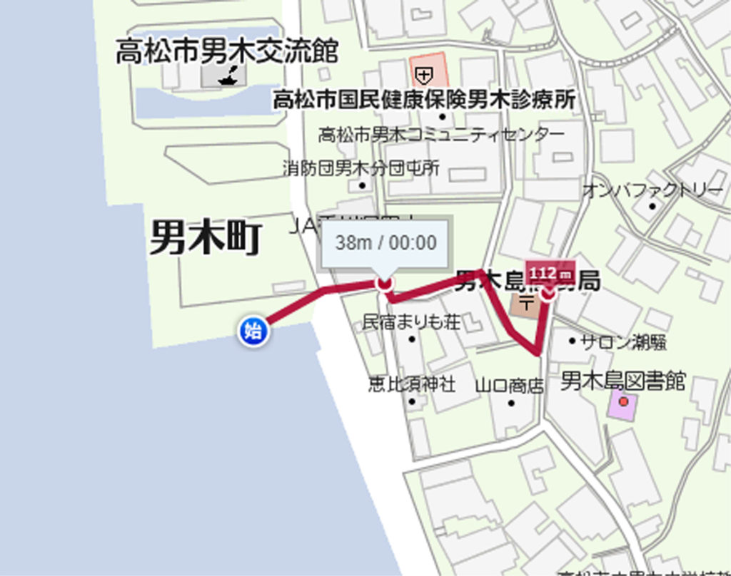 離島郵便局クルーズ男木島